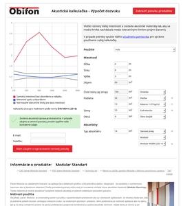 Akustická kalkulačka Obifon
